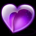 Plum Heart Sticker