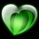 Water Melon Heart Sticker