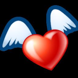 Flying Heart Sticker