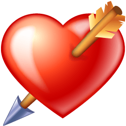 Arrow Through Heart Sticker