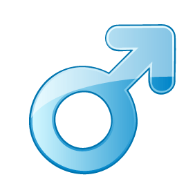 Male Symbol Sticker
