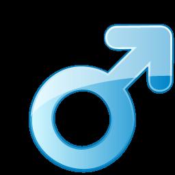 Male Symbol Sticker