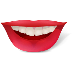 Smile Red Lips Sticker