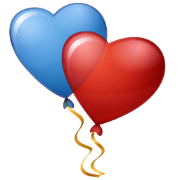 Balloons Hearts Sticker