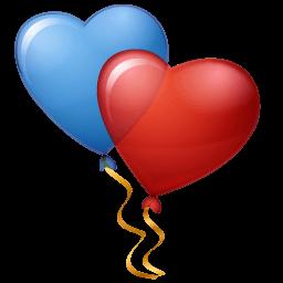 Balloons Hearts Sticker