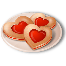 Cookies Hearts Sticker