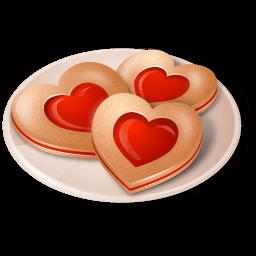 Cookies Hearts Sticker