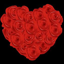 Flowers Heart Roses Sticker