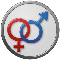 Sex Male Female Circled Sticker
