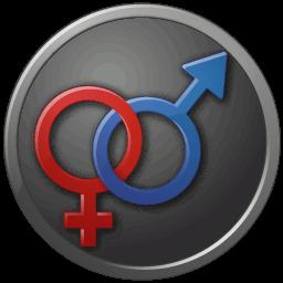 Sex Male Female Circled Sticker
