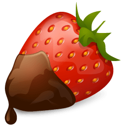 Strawberry Chocolate Sticker