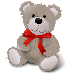 Teddybear Redribbon Sticker