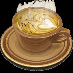 Coffee Brown Sticker