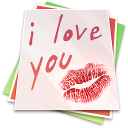 Paper Kiss - I Love You Sticker