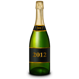 Champagne Bottle Sticker