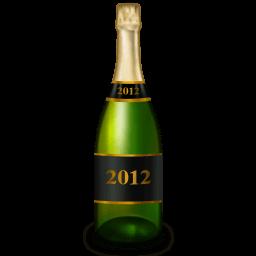 Champagne Bottle Sticker