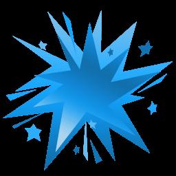 Fireworks Blue Sticker