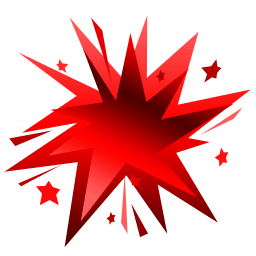 Fireworks Red Sticker