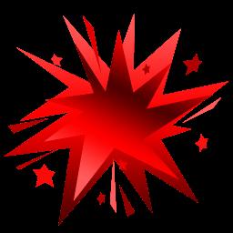 Fireworks Red Sticker