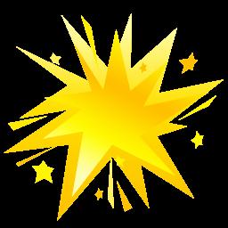 Fireworks Yellow Sticker