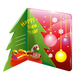 Christmas Card Sticker
