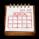 Wood Calendar Sticker