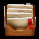 Wood Folder Sticker