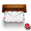 Wood Mail Sticker
