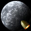 Rocket Moon Sticker