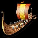 Viking Ship Sticker