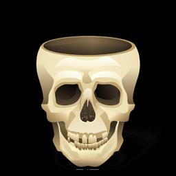 Skull Empty Sticker