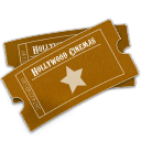 Hollywood Ticket Sticker