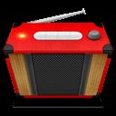 Red Radio Sticker