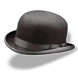 Hat Bowler Sticker