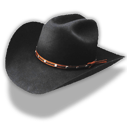 Hat Cowboy Black Sticker