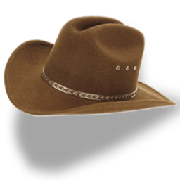 Hat Cowboy Brown Sticker