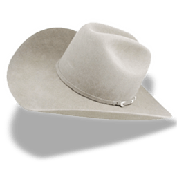 Hat Cowboy White Sticker