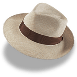 Hat Linen Trilby Sticker