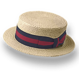 Hat Straw Derby Sticker