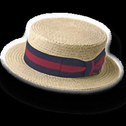 Hat Straw Derby Sticker