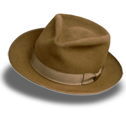 Hat Suede Fedora Sticker