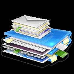 Blue Folder Sticker