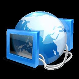 Blue Internet Sticker