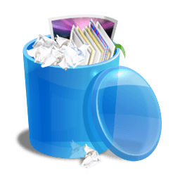 Blue Recycle Bin Sticker