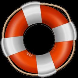 Red Life Saver Sticker