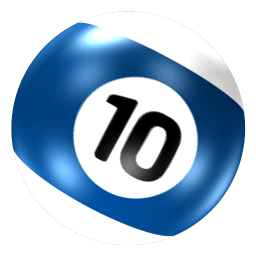 Ball 10 Sticker