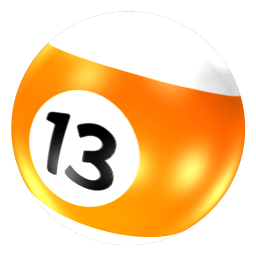 Ball 13 Sticker
