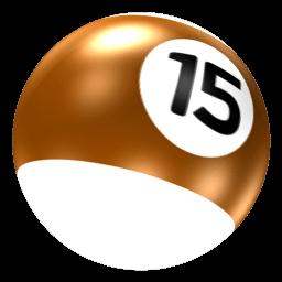 Ball 15 Sticker