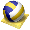 Beach Volley Sticker