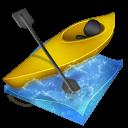 Kayak Slalom Sticker